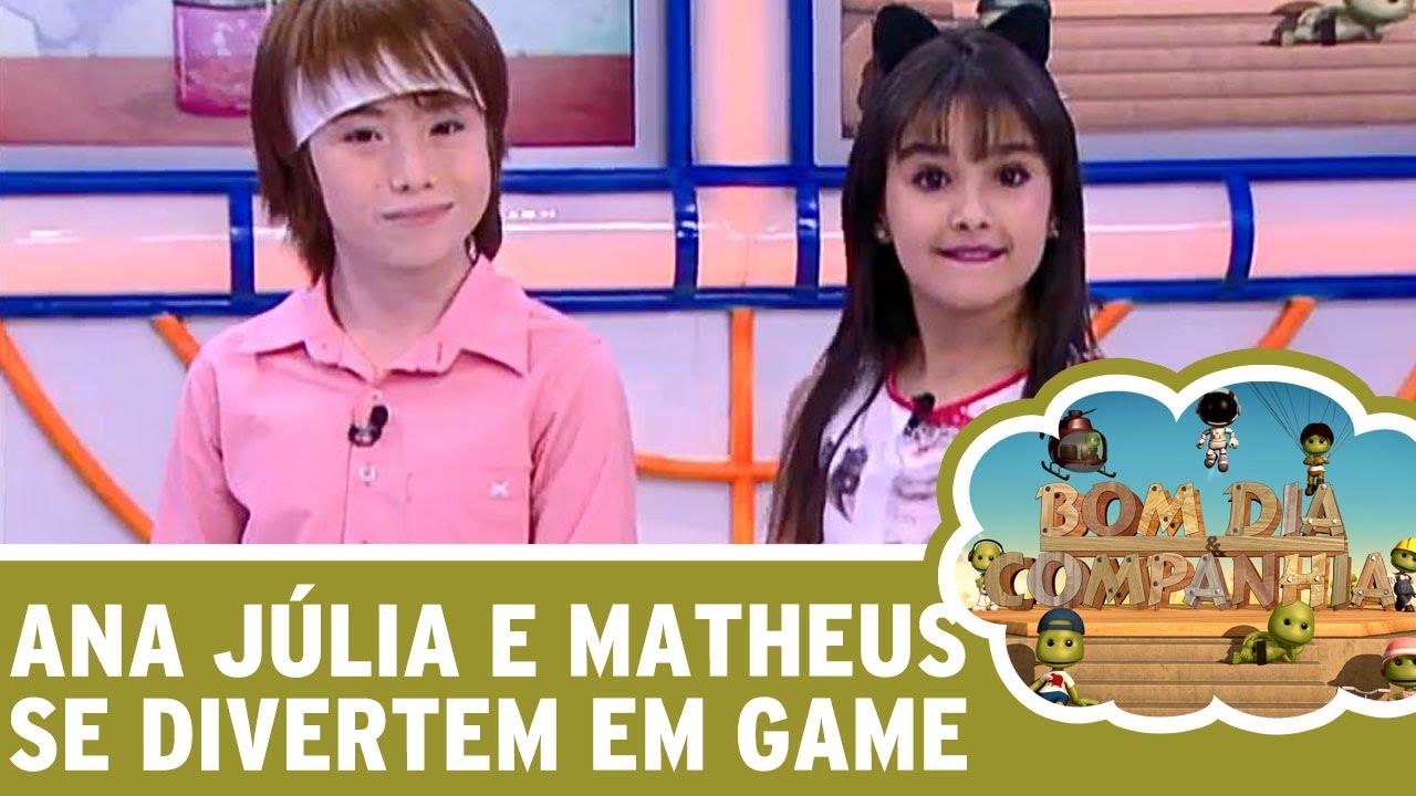 Bom Dia E Cia: Ana Júlia E Matheus Ueta Matam