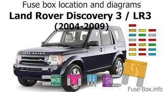 Fuse box location and diagrams: Land Rover Discovery 3 / LR3 (2004-2009) -  YouTubeYouTube