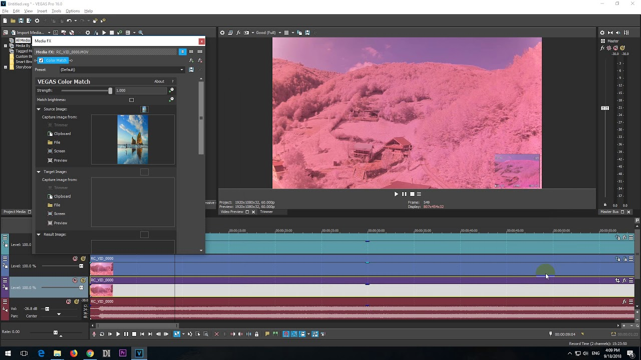 Vegas Pro Color Correction and Color Grading Tutorial