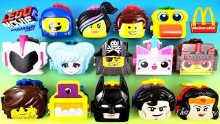 2019 THE LEGO MOVIE 2 McDONALD'S HAPPY MEAL TOYS FULL WORLD SET 14 UNBOXING EUROPE ASIA US UK KIDS