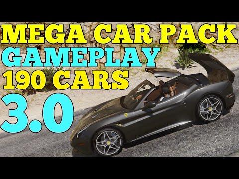 GTA V - MEGA REALISTIC CAR PACK 3.0 GAMEPLAY [DOWNLOAD]