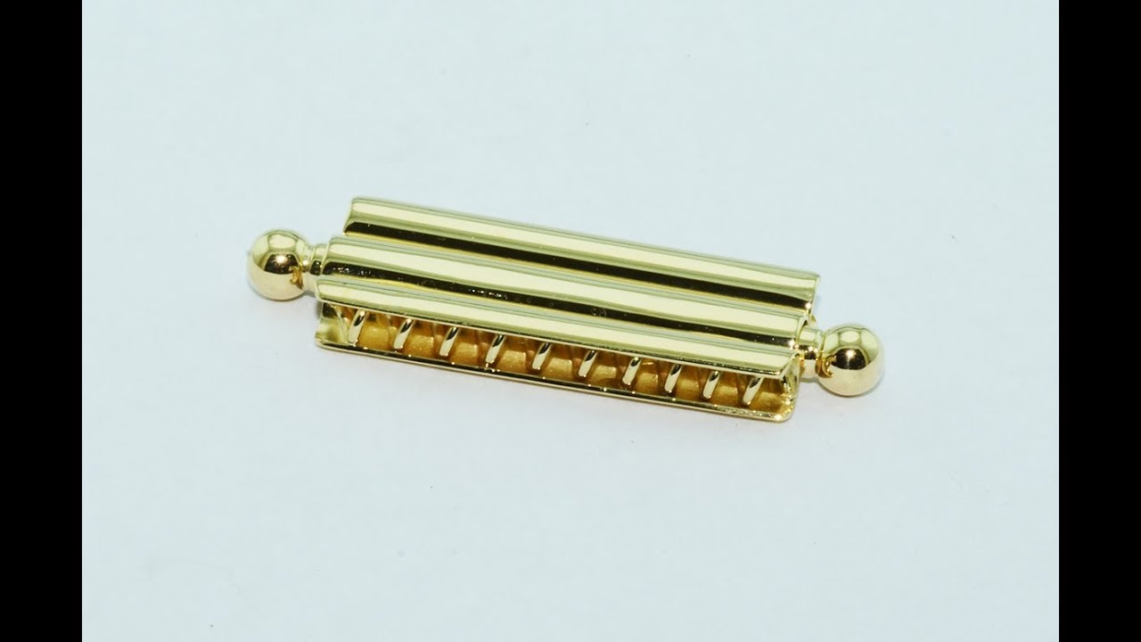 Bayonet Lock For Necklaces And Bracelets In 18kt Gold Handmade Scaffoal