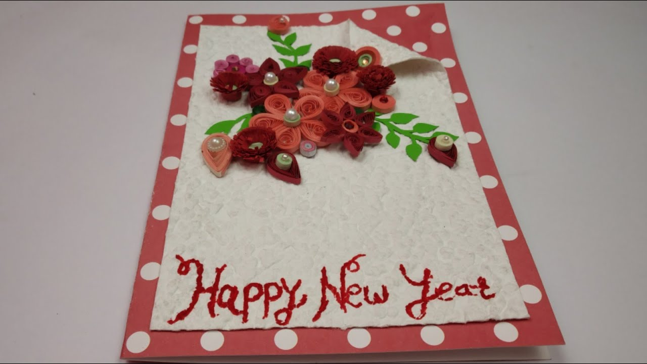new year greeting card  diy new year card  how to make