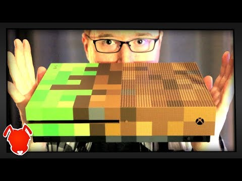 WORLD FIRST MINECRAFT XBOX ONE S UNBOXING!