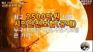 최고 2500만원 지급 '시민안전보험(공제)'
