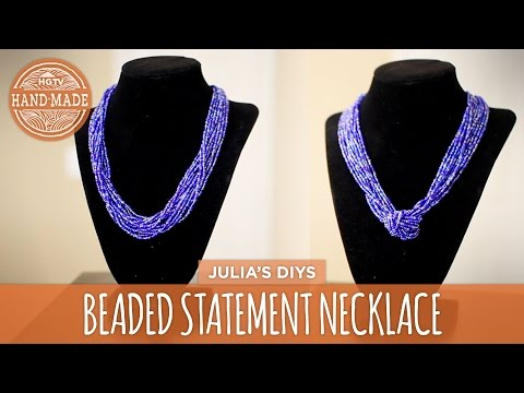 DIY Chunky Beaded Statement Necklace | 2 Ways! - HGTV Handmade