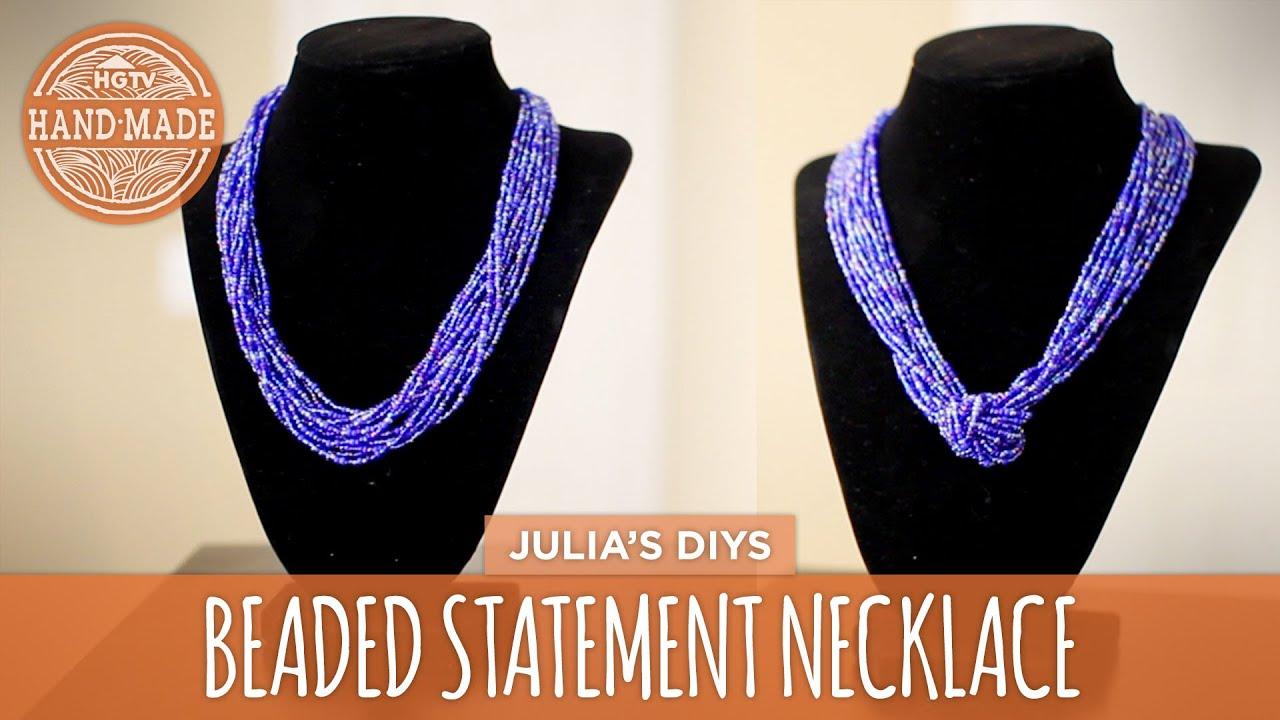 DIY Chunky Beaded Statement Necklace | 2 Ways! - HGTV Handmade ...