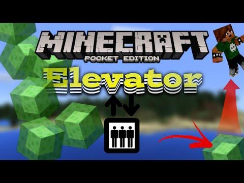 Minecraft Pe Fastest Elevator Tutorial Slime Block