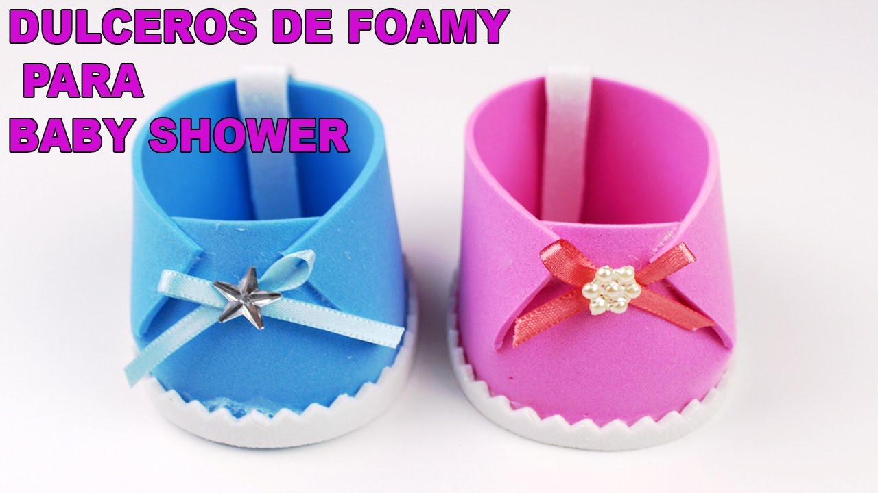ZAPATITOS DULCEROS EN FOAMY PARA BABY SHOWER DE NIÑA Y