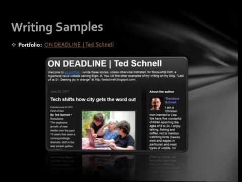 Ted Schnell   Journalist, writer, storyteller, edi...