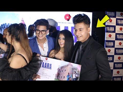 tik-tok-stars-manjul-khattar,-arishfa-khan-launch-new-song-#yaara