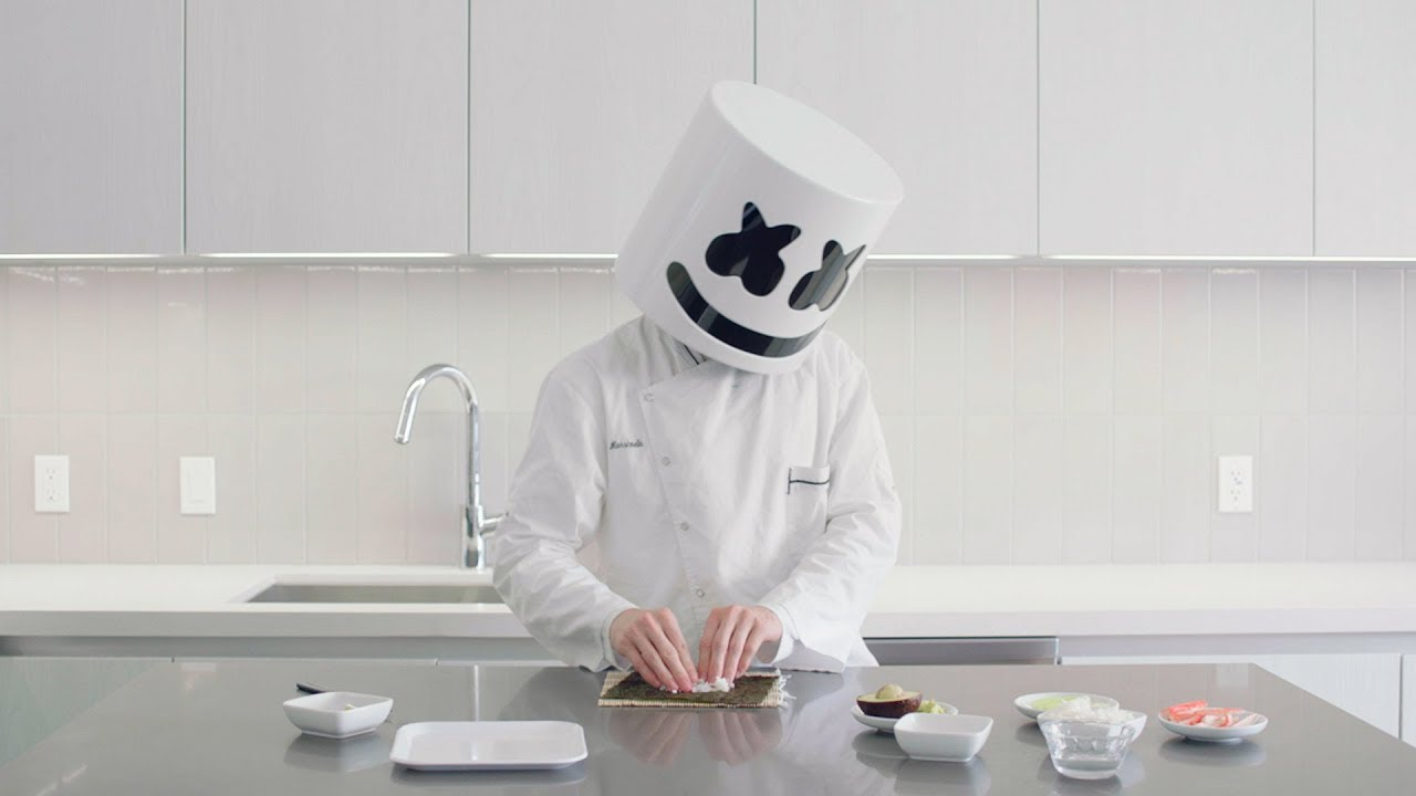 How To Make Sushi — California Roll | Cooking with Marshmello
