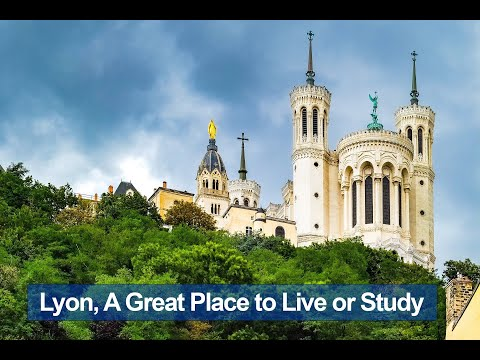 Pros and cons of Lyon for Studying or Living.  Lyon from drone view, student life...
