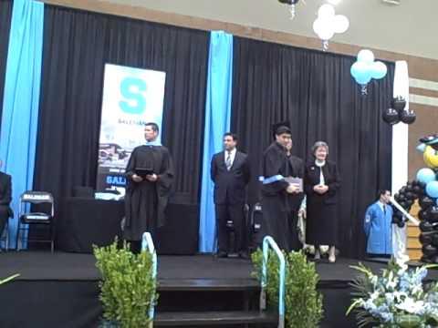 Richard Rene Moreno getting his diploma from Bishop Mora Salesian High School.AVI