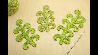 ВЕТОЧКА ЗАВИТКОВ урок вязания крючком crochet lesson