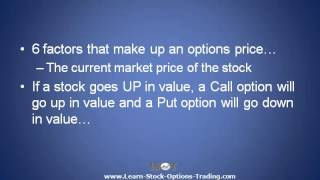 Stock Option Valuation - Learn What Gives Stock Options Their Profit Potential