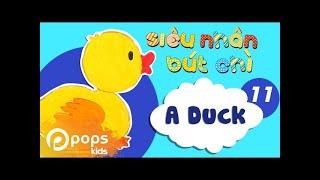 Hướng Dẫn Vẽ Con Vịt  - Siêu Nhân Bút Chì - Tập 11 - How To Draw A Duck