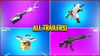 *ALL* Season 9 Fortnite Trailers! (Storm Flip, Burst SMG, Hot Spots) in HD!