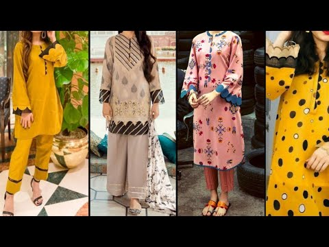 New Latest And Stylish Dress Designing ideas |  sleeve Daman and Trouser Design