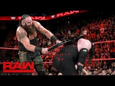 Braun Strowman crushes Kane's throat in brutal steel chair attack: Raw, Nov. 27, 2017