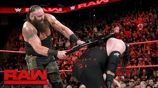 Braun Strowman crushes Kane's throat in brutal steel chair a…