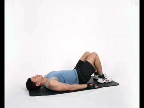 Gerakan Latihan Otot Paha - Supine Hip -- Thigh Extension
