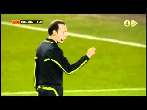 Sverige 3-2 Holland EM-kval ALLA MÅL