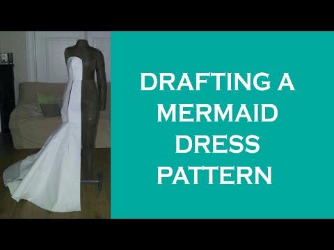 mermaid-dress-|-flat-pattern-design-tutorial