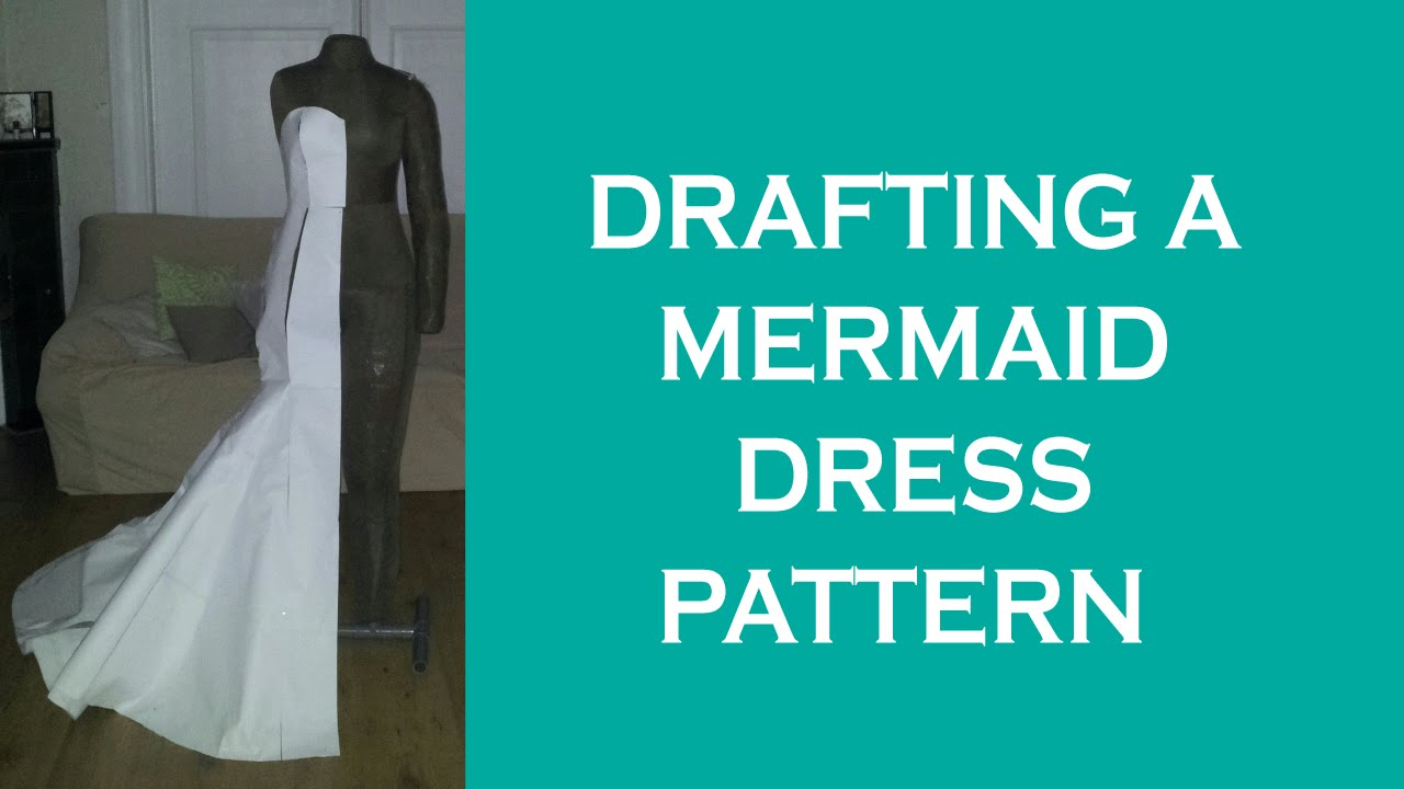 Design a mermaid dress pattern - YouTube