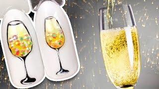 🍾 Бокал Шампанского Со Стразами 🍾 Праздничный Дизайн Ногтей Гель-лаком к Новогоднему Маникюру