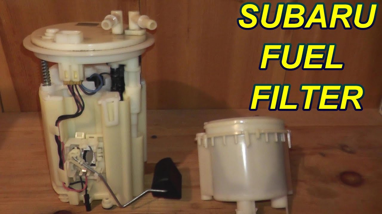 how to replace an in-tank fuel filter on a subaru