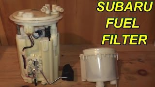 how to replace an in-tank fuel filter on a subaru - youtube  youtube