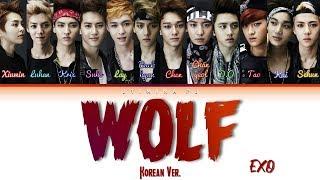 EXO (엑소) - Wolf (늑대와 미녀)(Korean Ver.) Lyrics (Color Coded_Han_Rom_Eng)