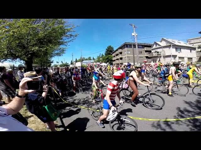 Naked Bike Ride Fremont Solstice 2014