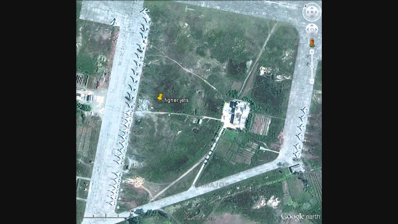 How Google Earth Owns North Korea Part  Spotting Military - Map of south korea us army bases