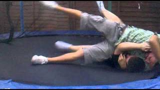 funny fall off a trampoline