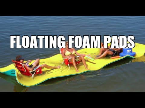 Floating Foam Pads Aqua Lily Pad Maui Mat Youtube