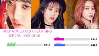 How Would AOA Cream sing - Ice Chu (OGUOGU) line distribution