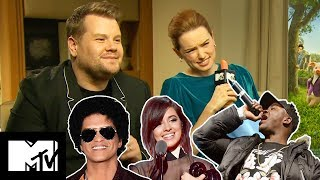 James Corden And Daisy Ridley Play Peter Rabbit CARROT-OKE MTV Movies