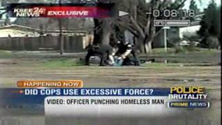 Fascist Cops Beat Homeless Man