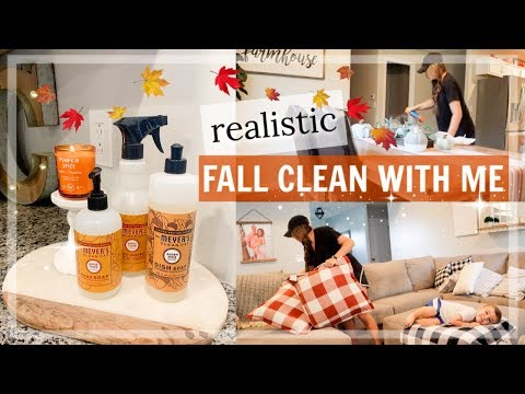 REALISTIC FALL CLEAN WITH ME | MAJOR CLEANING MOTIVATION 2019