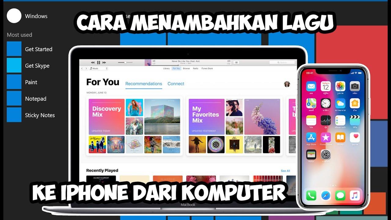 Cara Memasukkan File Lagu ke iPhone Lewat iTunes