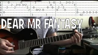 Traffic Dear Mr Fantasy Guitar tab chords lesson