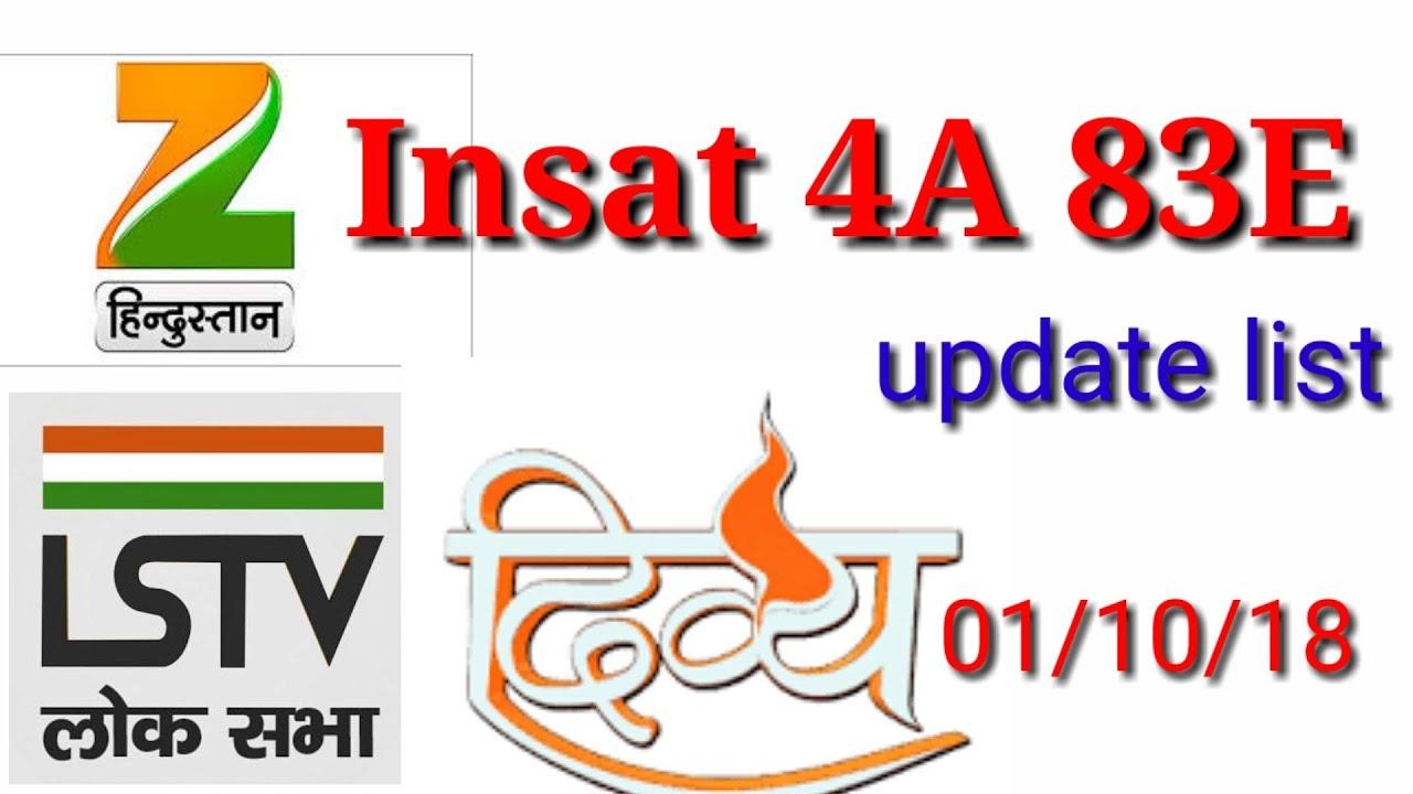 Xem Insat 4a 83e update list 01/10/18 set kare 4 feet Ya 6 feet C band