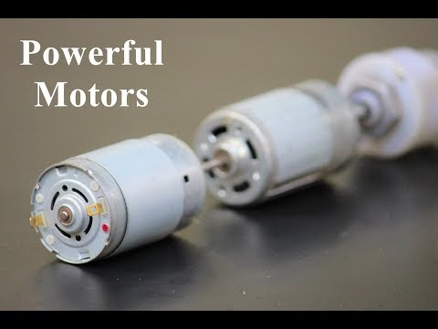 3 Useful Things From Powerful DC Motor