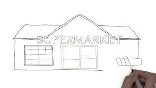 How To Draw Supermarket
