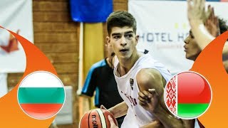 Bulgaria v Belarus - CL 9-16 - Full Game - FIBA U16 European Championship Division B 2018 thumbnail