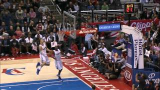Jamal Crawford's AMAZING alley-oop to Blake Griffin! Video