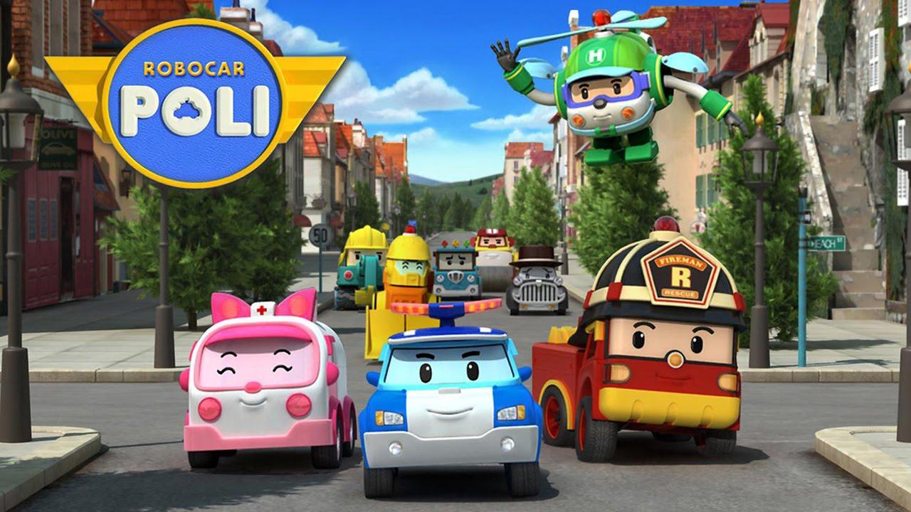 robocar poli car toy funny cartoon videos toy trucks car