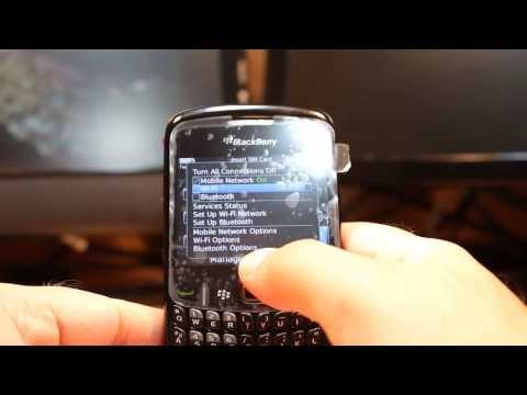 WiFi setup to Blackberry Curve 8520
